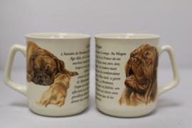 Mok met Bordeaux Dog - set van 3 stuks
