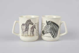 Mug Zebra - per 3 pieces