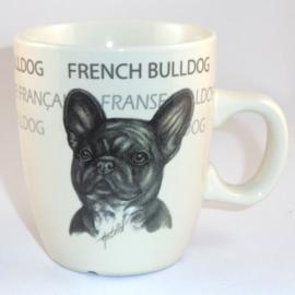 Senseo mok Franse Bulldog - per set van 3 stuks