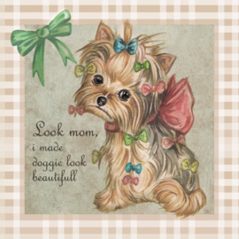 Look mom, i made doggie look beautifull