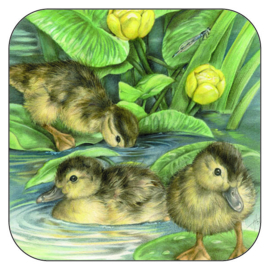 Coaster Young Ducklings, per 3 pieces