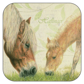 Coaster Haflingers, per 3 pieces