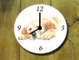 Clock Golden Retriever, per 1 piece