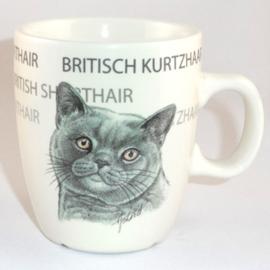 Tasse British Shorthair, pro 3 stück
