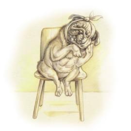 Wachtkamer emotie: kiespijn bij gevoelige hond.