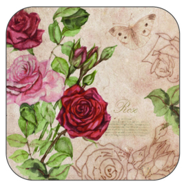 Coaster Roses, per 3 pieces
