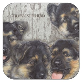 Coaster German Shepherd, per 3 pieces