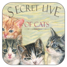 "Coaster ""Secret Live of Cats 4"", per 3 pieces"