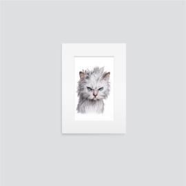 Boze kat staand