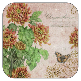 Coaster Chrysanthemum, per 3 pieces