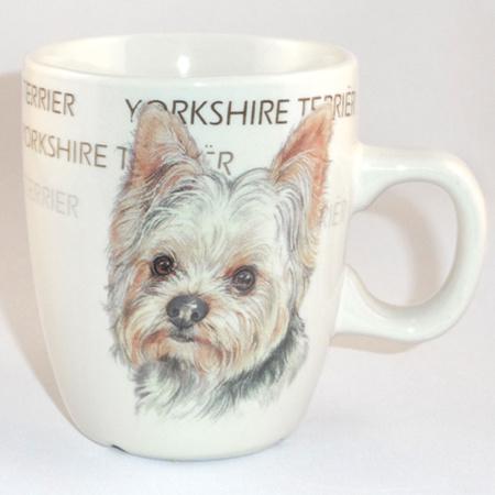 Mug Yorkshire Terrier, per 3 pieces