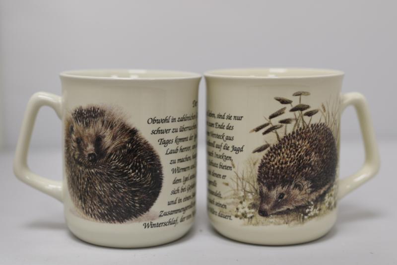 Mug Hedgehog - per 3 pieces