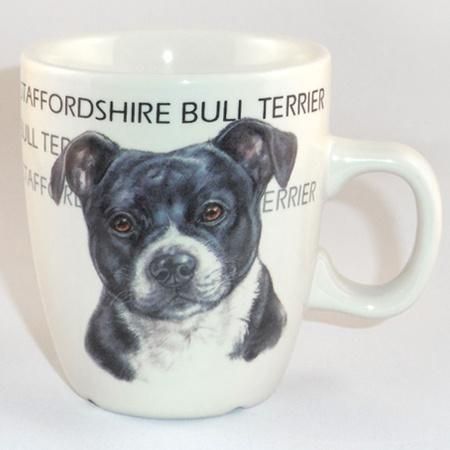 Senseo mok Staffordshire Bull Terrier - per set per 3 stuks