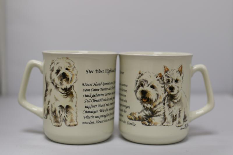 Tasse West Highland White Terrier, pro 3 stück