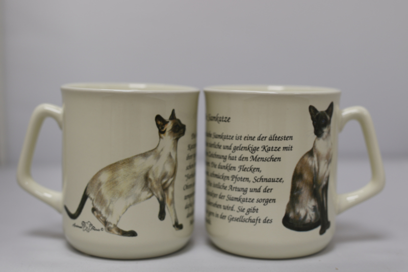 Mug Siamese Cat - per 3 pieces