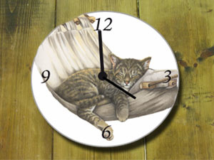 Clock Cat, per 1 piece
