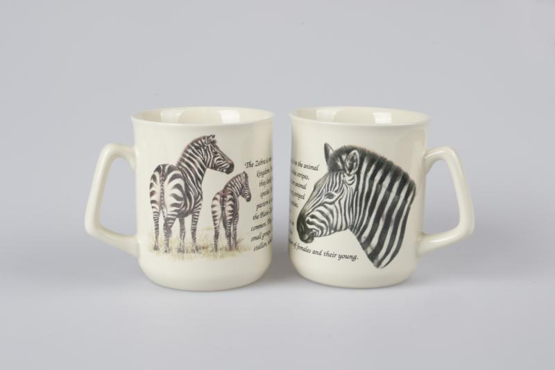 Mok Zebra, set van 3 stuks