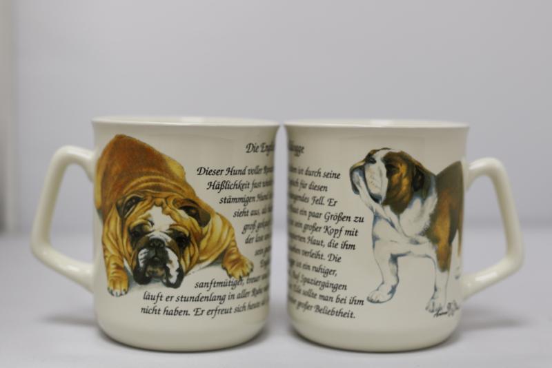 Mug English Bulldog - per 3 pieces