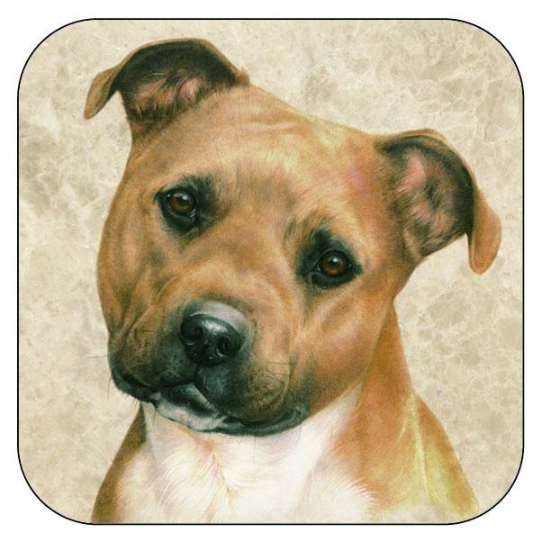 Coaster Staffordshire Terrier, per 3 pieces
