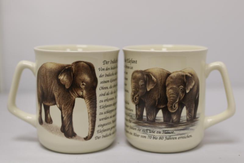 Mug Elephants - per 3 pieces