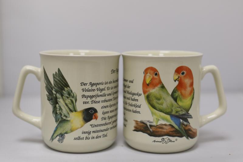 Mug Lovebirds - per 3 pieces