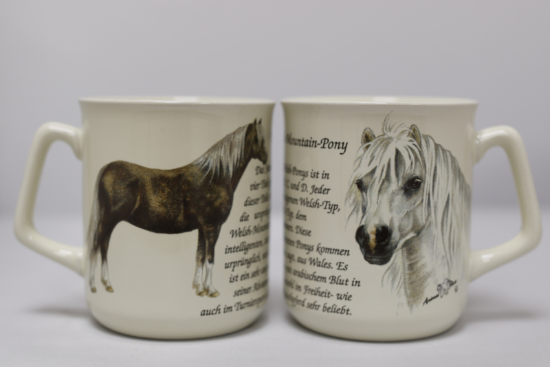 Tasse Welsh Mountain Pony, pro 3 stück