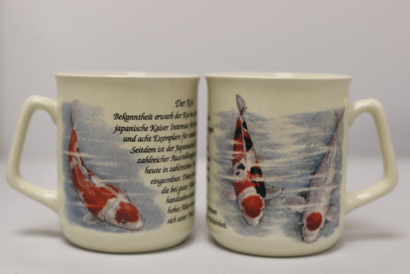 Mug Koi Fish - per 3 pieces