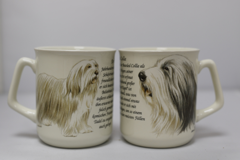 Mug Bearded Collie - per 3 pieces