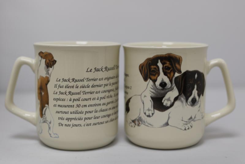 Mug Jack Russels -  per 3 pieces