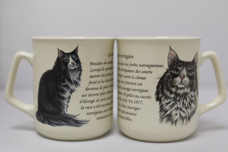 Mug Norwegian Forest Cat - per 3 pieces
