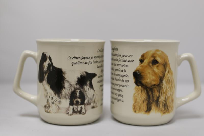 Mug Spaniels - per 3 pieces