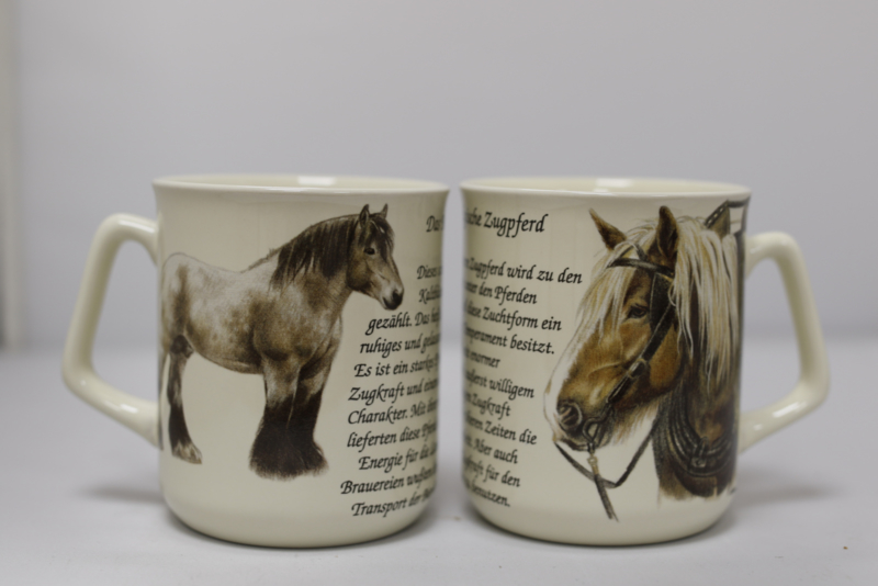 Mug Belgian Draft Horse - per 3 pieces