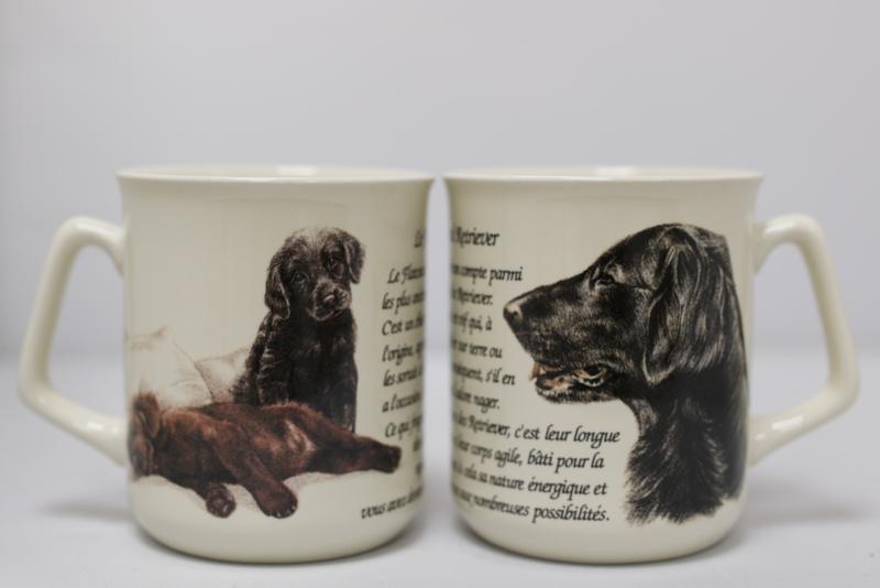 Mug Flatcoated Retriever - per 3 pieces