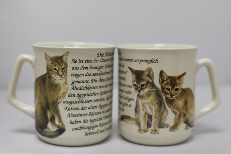 Mug Abyssinian Cat - per 3 pieces