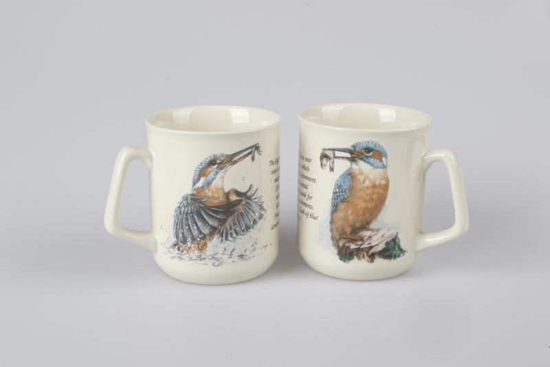 Mug Kingfisher - per 3 pieces