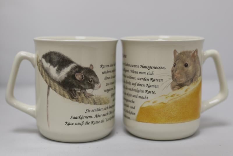 Tasse Ratte, pro 3 stück