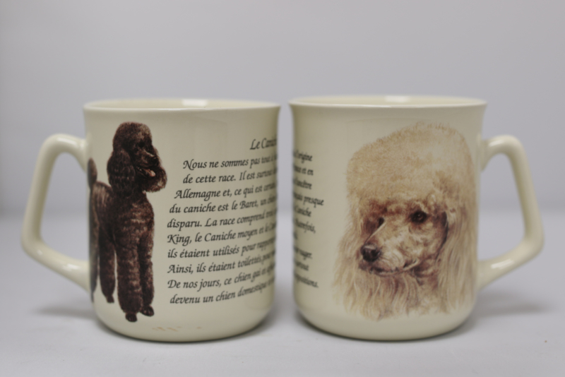 Mug Poodle - per 3 pieces
