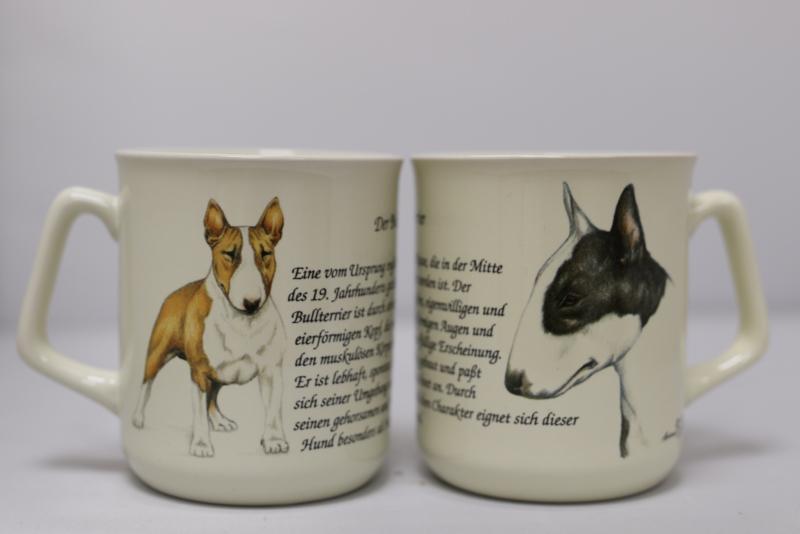 Mok met Bull Terrier - set van 3 stuks