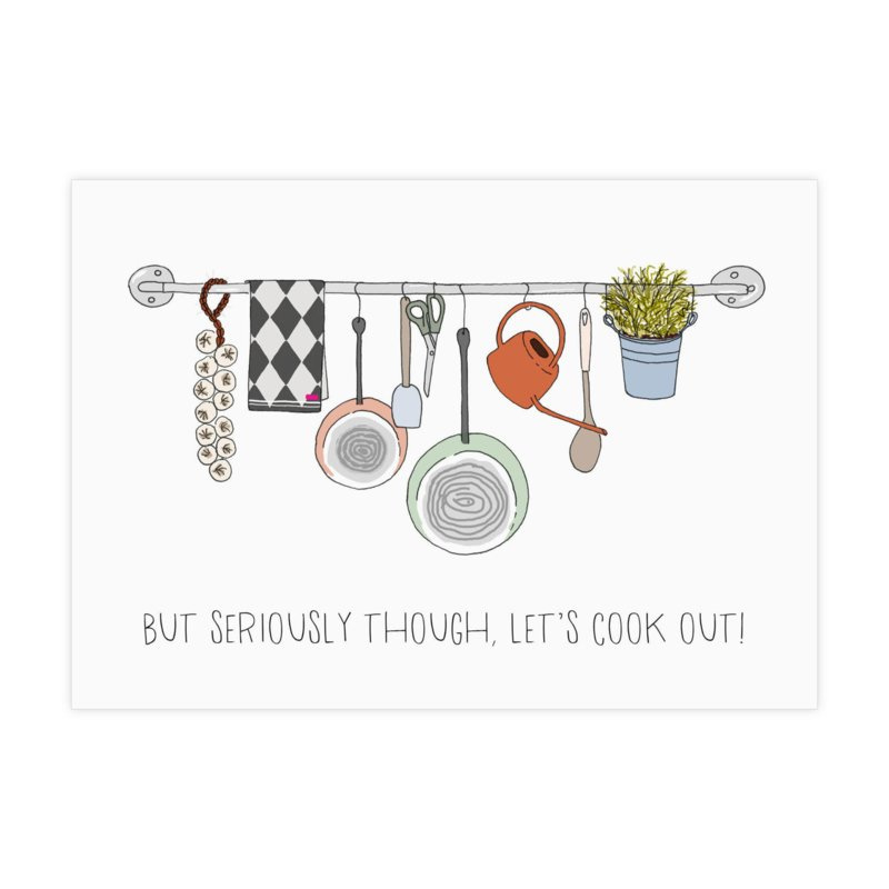 Kaart 'Let's cook out!'