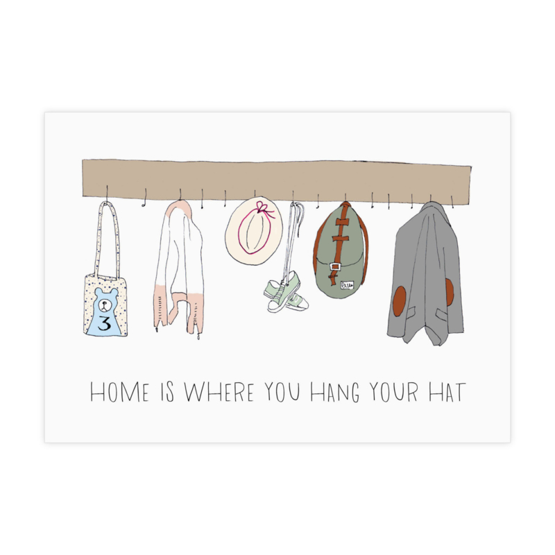 Kaart 'Home is where you hang your hat'
