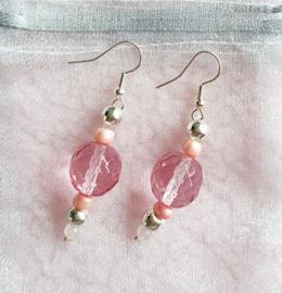 Oorbellen roze