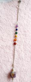 Handmade Chakra pendel Amethist punt