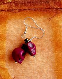oorbellen Howlite aubergine