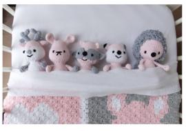 Haakpakket DenDennis Amigurumi pink 1