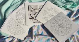 Set van 5 mandala kleurkaarten