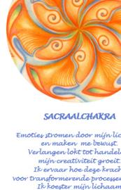 Chakra's kleur in beweging