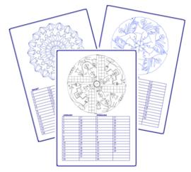 Mandala Verjaardagskalender kleurplaten
