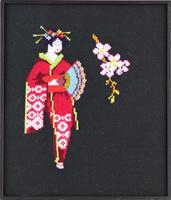 Geisha met bloem