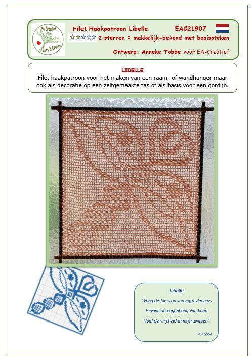 Libelle Filet Haakpatroon
