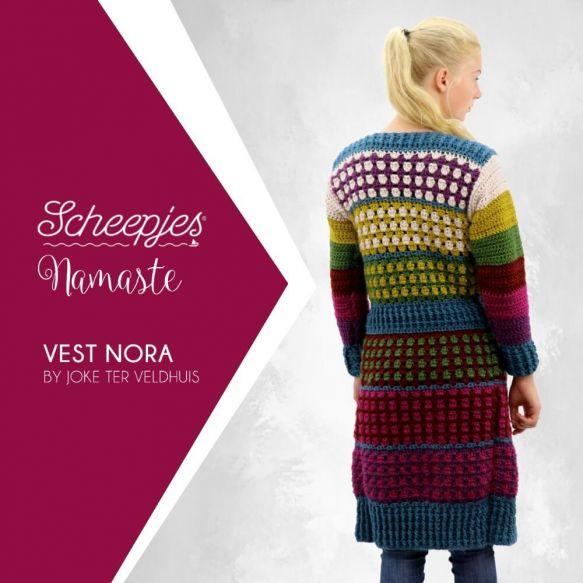 Haakpatroon Namaste vest Nora